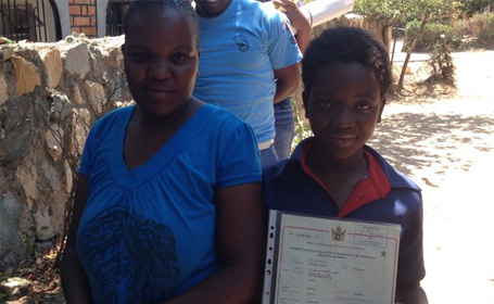 Birth Registration and Legal Identity for Children in Zimbabwe - Field Visit, November 2015