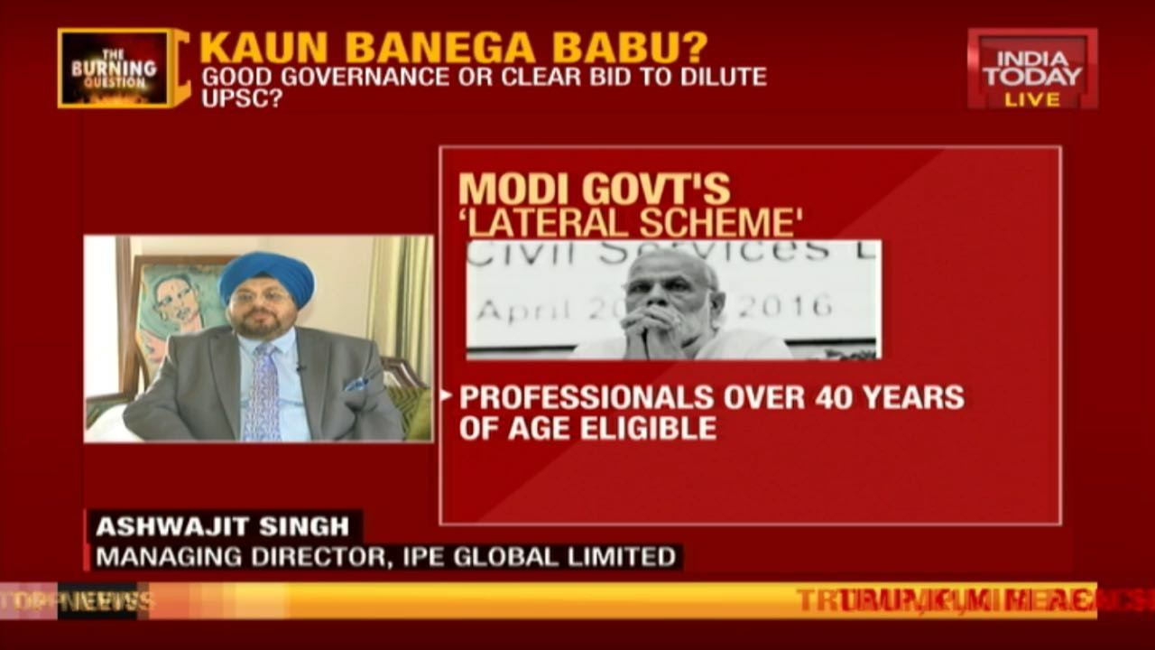 Ashwajit Singh features on LIVE chat show 'The Burning Questions' on India Today