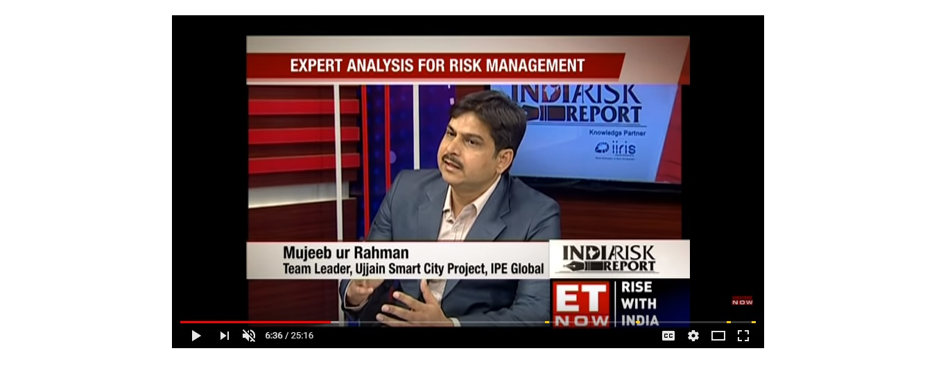 Mujeeb Ur Rehman, Team Leader IPE Global in Ujjain Smart City project features on ET Now