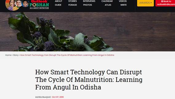 IPE Global gets coverage in Outlook India on Learning from Angul in Odisha
