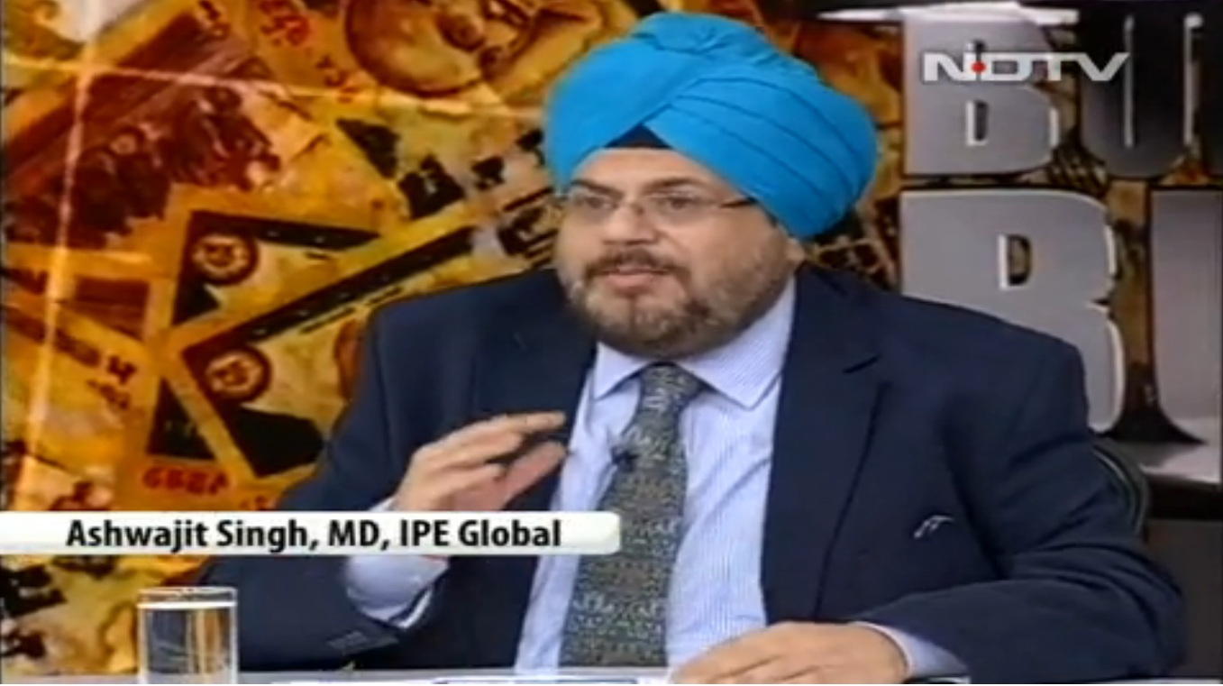 IPE Global, MD, Ashwajit Singh, participated in a special budget discussion, Budget Buzz on  NDTV
