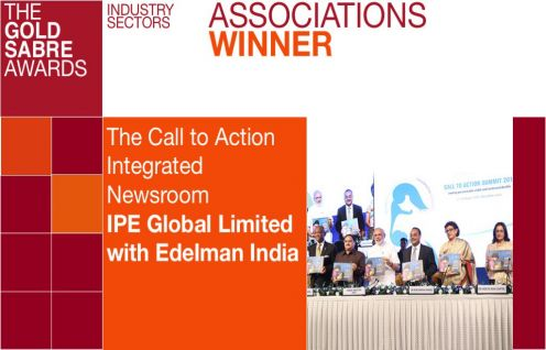 The Call to Action Integrated Newsroom set up for the Summit in August 2015  won the Gold SABRE Award in the Associations category