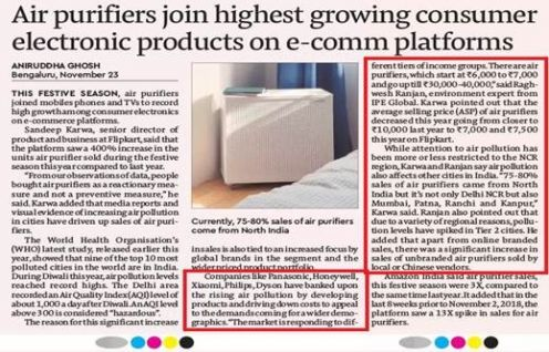 Financial Express features Raghwesh Ranjan speaking on