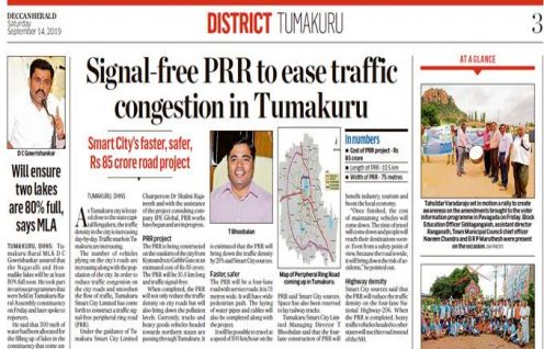 IPE Global's Tumakuru Smart City Project gets exclusive coverage in Deccan Herald