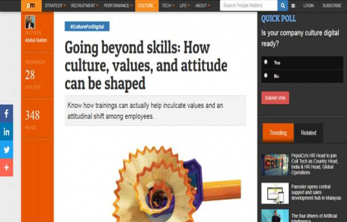 Abdul Rahim, CKO IPE Global featured in People Matters on Going beyond skills