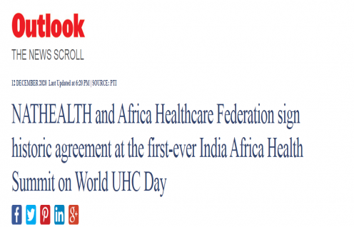 The first-ever India Africa Health Summit observed on World UHC Day