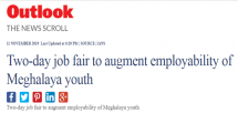 IPE Global gets exclusive coverage in Outlook on Meghalaya Job Fair