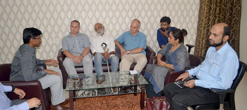 DFID India team interacting with Dr. Thiyagarajan SM, I.A.S. District Magistrate and Collector Nalanda