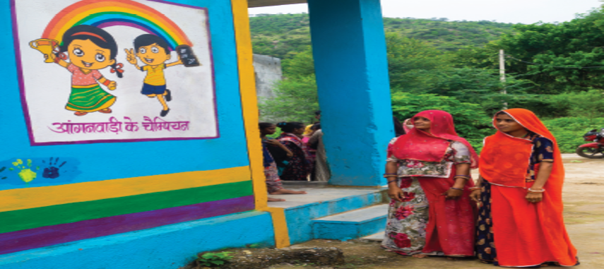 Vibrant look of Angadwadi Centre attracts people and visitors