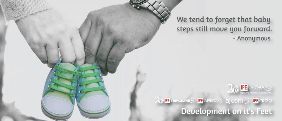 We tend to forget that baby steps still move you forward - Anonymous