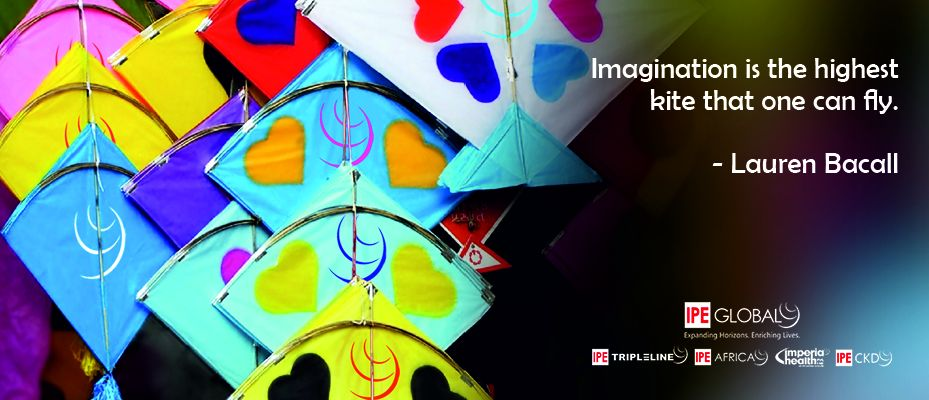 Imagination is the highest kite that can fly.